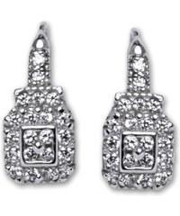 Čištín Naušnice stříbrné E0086 crystal