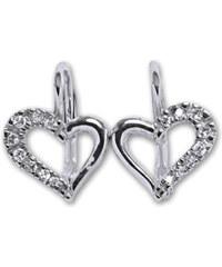Čištín Naušnice stříbrné E1322 crystal