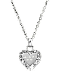 Michael Kors Jemný náhrdelník z oceli s přívěskem srdce MKJ3970040