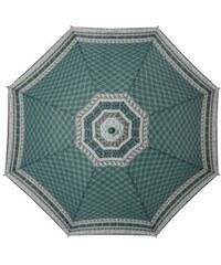 s.Oliver Dámský skládací mechanický deštník Enjoy Nordic Style Smaragd 70805SON20