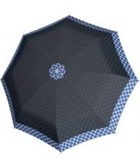 Doppler Dámský skládací plně automatický deštník Hit Magic Polka modrý 7440265PA03