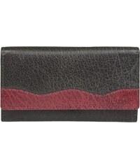Lagen Dámská kožená peněženka 4013 Black/Wine Red
