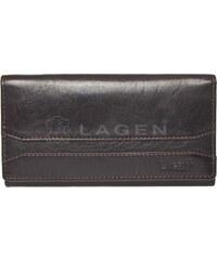 Lagen Dámská tmavě hnědá kožená peněženka Dark Brown W-2025/T