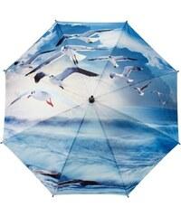Blooming Brollies Dámský skládací plně automatický deštník Galleria Seagulls GBFSEA