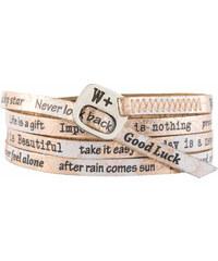 We Positive Wrap náramek v barvě růžového zlata s nápisy 217 Rose Gold
