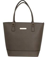 Calvin Klein Elegantní kožená business kabelka Large Leather Shopper Dark Taupe H3JB11YW