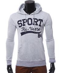 Re-Verse Hoodie mit Sport-Print - Hellgrau - S