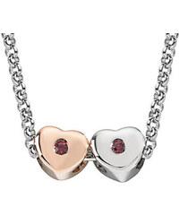 Morellato Ocelový bicolor náhrdelník Drops Hearts SCZ464