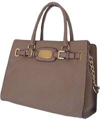 Michael Kors Elegantní kabelka Hamilton Large Leather Tote Light Brown 38T1YHMT9L