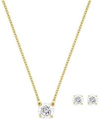 Swarovski Sada náhrdelníku a náušnic Attract Round Set 5149221