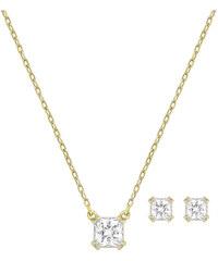 Swarovski Sada náhrdelníku a náušnic Attract Square Set 5149222