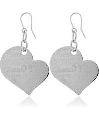 Guess Náušnice Srdce s nápisy USE80906