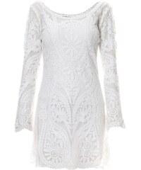 Glamorous Kleid mit kurzem Schnitt - weiß