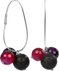 JwL Jewellery Stříbrné náušnice elipsy s přívěsky JL0153