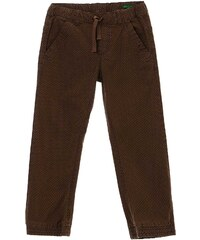 Benetton Pantalon en coton mélangé - marron clair