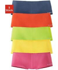 FLG FLASHLIGHTS Große Größen: Flashlights Microfaser-Panties mit stark angeschnittenem Bein und knalligen Farben (5 Stück), gelb+rot+blau+grün+pink, Gr.32/34-56/58
