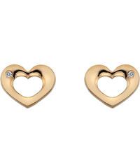 Hot Diamonds Stříbrné náušnice Hot Diamonds Emerge Heart Rose Gold DE435