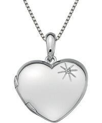 Hot Diamonds Stříbrný náhrdelník Hot Diamonds Memoirs Heart Locket DP495