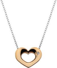 Hot Diamonds Stříbrný náhrdelník Hot Diamonds Emerge Heart Rose Gold DP585
