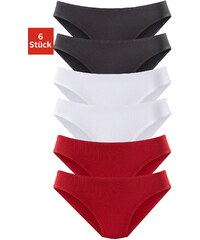 Große Größen: Vivance Active Jazzpants (6 Stück) aus Microfaser, 2x rot + 2x schwarz + 2x weiß, Gr.32/34-48/50