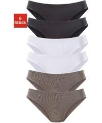 Große Größen: Vivance Active Jazzpants (6 Stück) aus Microfaser, 2x khaki + 2x schwarz + 2x weiß, Gr.32/34-48/50