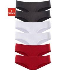 Große Größen: Vivance Active Microfaser-Hipster (6 Stück), 2x rot + 2x schwarz + 2x weiß, Gr.32/34-44/46