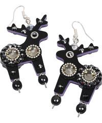 Deers Černé náušnice Blackie & Bad