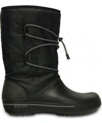 Crocs Dámské zimní sněhule Crocband II.5 Cinch Boot Black/Charcoal 201383-070