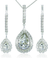 MHM Štrasová sada náušnic a náhrdelníku Avril Crystal 3497
