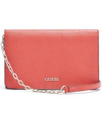 Guess Elegantní crossbody kabelka Emmi Petite Crossbody Flap červená