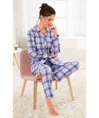 Große Größen: Pyjama, Comtessa, »night + day«, lila-kariert, Gr.36/38-52/54