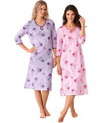 Große Größen: Nachthemden, Ascafa (2 Stck.), rosé + lila, Gr.36/38-52/54