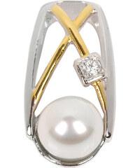 Silver Cat Stříbrný přívěsek s perlou a krystalem SC152