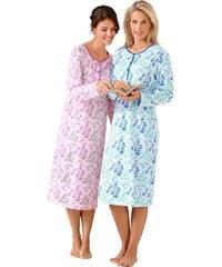 Große Größen: Nachthemden, Rosalie (2 Stck.), rosé + blau, Gr.36/38-56/58