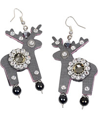Deers Šedé náušnice White & Grey