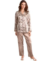 Große Größen: Pyjama, Rosalie, beige-taupe, Gr.36/38-52/54