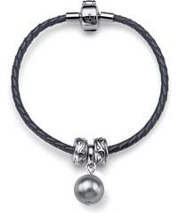 Oliver Weber Kožený náramek Charmed Shiney Pearl 56909