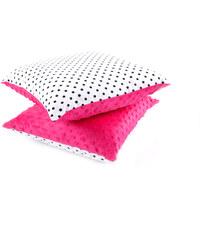 Dětský polštář s bavlnou a minky, PUNTÍKY tmavě růžová 40x40 cm, Mybesthome Varianta: Povlak na polštář, 40x40 cm