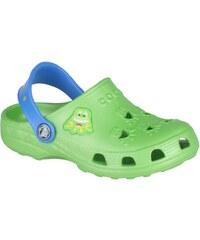 Coqui Dětské pantofle Little Frog 8701 Lime/Royal 100319