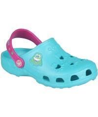 Coqui Dětské pantofle Little Frog 8701 Turquoise/Magenta 101462