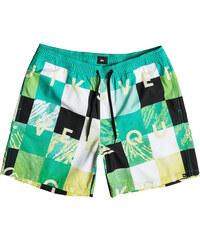 Quiksilver Pánské koupací šortky Check Remix VL 17 Pool Green EQYJV03052-GMJ6