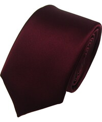 N.Ties Hedvábná kravata KUACH002-Burgundy