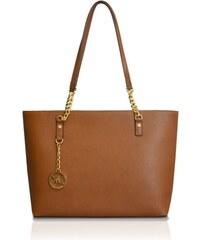 Michael Kors Elegantní kožená business kabelka Jet Set Chain Leather Tote Brown