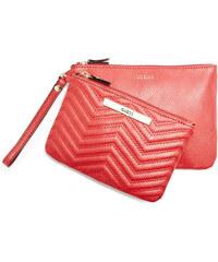 Guess Elegantní peněženka Cleopatra Quilted Pouch Set Red