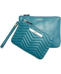 Guess Elegantní peněženka Cleopatra Quilted Pouch Set Turquoise
