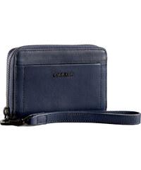 Calvin Klein Elegantní kožená peněženka Aster Leather Phone Wallet modrá