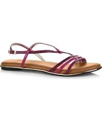Butterfly Twists Skládací sandály Charli Raspberry Rose Snake/Chestnut tan BT07-002-219