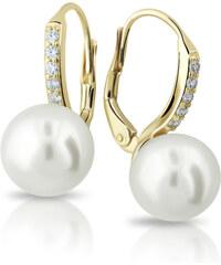 Zodiax Zlaté náušnice s přírodní perlou DLE 3122 Y