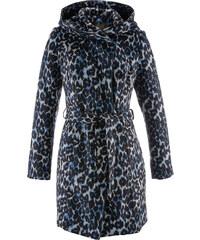bpc selection Manteau imitation laine imprimé bleu manches longues femme - bonprix