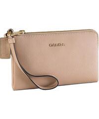 Calvin Klein Elegantní kožená peněženka Galey Saffiano Leather Wristlet tělová